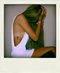 Tattoo. Cross