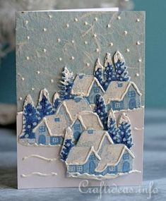 Fabric Christmas Card Winter WelcomeChristmas Cards, Holiday Cards and Winter Cards to Craft 2 Would work just as well with old cards. Christmas Card Crafts, Homemade Christmas Cards, Christmas Cards To Make, Christmas Paper, Xmas Cards, Handmade Christmas, Homemade Cards, Holiday Cards, Fabric Cards
