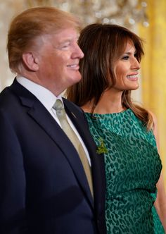 US President Donald Trump and US first lady Melania Trump look on as Ireland's Prime Minister Leo Varadkar speaks in the East Room of the White House March 15, 2018 in Washington, DC. / AFP PHOTO / Mandel NGAN (Photo credit should read MANDEL NGAN/AFP/Getty Images) via @AOL_Lifestyle Read more…