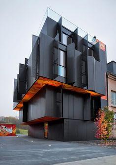 Screen Facade: metaform atelier d'architecture: luxembourg apartment - designboom | architecture