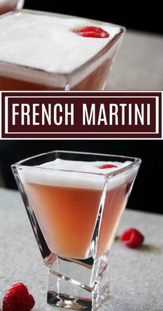 French Martini Recipe. Sweet, smooth and silky. #cocktailrecipes