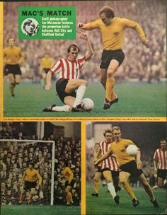 Sheffield Utd 1 Hull City 2 in March 1971 at Bramall Lane. Action from the game #Div2