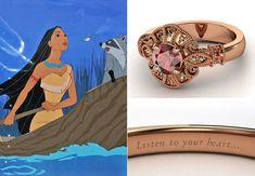 Ring: Customized Gemvara Disney Ring // Feature: TheKnot.com