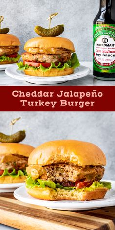 Spicy Turkey Burgers, Turkey Burger Recipes, Salmon Burgers, Chipotle Mayonnaise, Homemade Chipotle, Healthy Meals, Healthy Recipes, Slender Kitchen, Burger Toppings