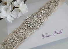 This dazzling bridal sash is embellished with high quality glass crystals. The embellishment is 2 wide x long. The sash Champagne Wedding Decorations, Champagne Wedding Colors, Gold Champagne, Gold Wedding, Rhinestone Belt, Crystal Rhinestone, Diy Wedding Gifts, Wedding Ideas, Wedding Sash Belt