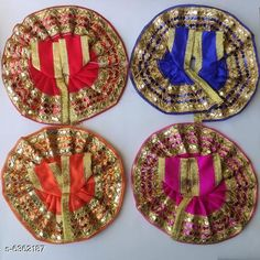 Checkout this latest Pooja Samagri Product Name: *Stylish Silk Laddu Gopal Poshak* Material: Plastic Pack: Multipack Product Length: 4 Inch Product Breadth: 4 Inch Easy Returns Available In Case Of Any Issue   Catalog Rating: ★4.3 (3927)  Catalog Name: Stylish Silk Laddu Gopal Poshak CatalogID_1011507 C128-SC1315 Code: 34-6362187-921