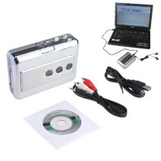Portable Lp Vinyl Tape To Pc Dual Hybrid Usb Cassette-to-mp3 Converter Capture With Audio Output Work For All Kinds Of Tapes by Brainydeal  http://www.isaidipod.com