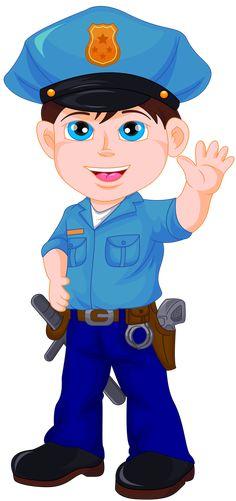 Photo from album Cartoon Kids, Cute Cartoon, Lego Juniors, School Frame, School Clipart, Cute Clipart, Community Helpers, Cute Illustration, Police Officer