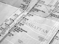 Mapa del metro de nueva york blanco y negro — Imagen de stock #53349341