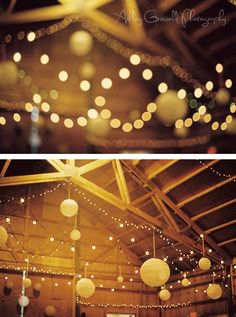 Fairy lights and paper lanterns, yes and yes