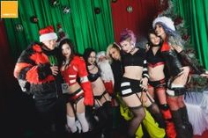 Pic with santa from our CyberGoth Rave christmas party.