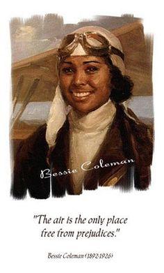 """Bessie Coleman aka """"Brave Bessie"""" or """"QueenBess"""""""