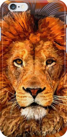 Old Lion Digital art Painting iPhone Cases & Skins #Case #CellPhone #iPhonecase #hardcase #plasticcase #flexible #slimcase #solidprotection  #abstract #lion #tiger #cat #bigcat #fur #beautifulanimal #aztec #jungle #puma #tarzan #pattern #gryffindornarnia