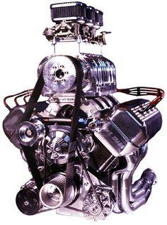 """Mopar Hemi-Head """"A"""" - '392' - Supercharged, 2x3 Barrel Carburetors """"6-Pack""""."""
