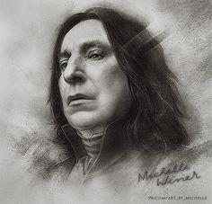 Severus Snape by Michelle-Winer    First pinned to Celebrity Art board here... http://www.pinterest.com/fairbanksgrafix/celebrity-art/ #Drawing #Art #CelebrityArt.
