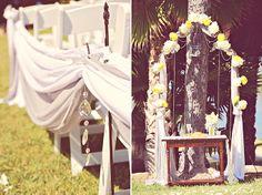 Vintage Yellow and Gray Wedding