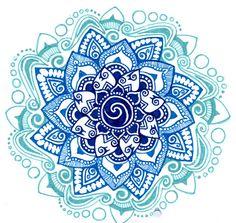 Blue mandala tattoo