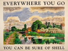 Everywhere You Go Shell Kintbury Berkshire 1930s - original vintage poster by George Hooper listed on AntikBar.co.uk