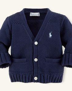 Cotton V-Neck Sweater - Layette Tops & Bottoms - RalphLauren.com $40