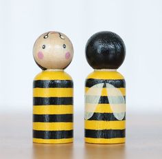 Items similar to Bumblebee Peg Doll, Bee Christmas Ornament, Bee Cake Topper on Etsy