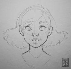 Draw the basics Pencil Art Drawings, Art Drawings Sketches, Cartoon Drawings, Cute Drawings, Drawing Faces, Art Inspiration Drawing, Cartoon Art Styles, Art Reference Poses, Drawing Reference