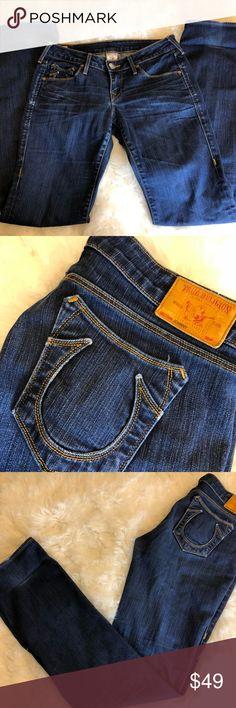 "True Religion Johnny Jeans Boot Cut Size 28 Measurements   32"" Waist  7"" Rise  34"" Inseam True Religion Jeans Boot Cut"
