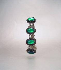 Egyptian Sterling Silver Bracelet Lotus Moonglow by sodear2myheart, $149.00