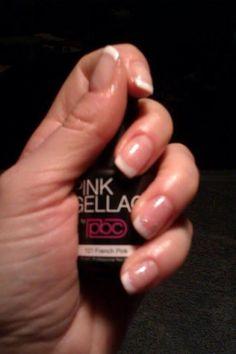 French Manicure zelf aanbrengen kan met de Pink Gellac FM set. French manicure met een laagje romantic pink voor wat extra glitter :)
