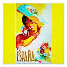 Poster-Vintage Travel Art-Spain