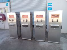 Industrial Drinking chiller Great Websites, French Door Refrigerator, French Doors, Lockers, Locker Storage, Drinking, Kitchen Appliances, Industrial, Furniture