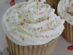 cinnamon cupcakes; though I think I'll make a different frosting