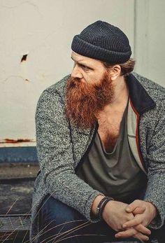 scruffy ginger sailor beard
