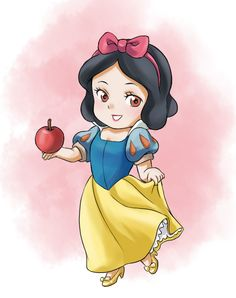 Chibi Snow White by CatPlus Disney Drawings Sketches, Cute Disney Drawings, Disney Princess Drawings, Disney Princess Pictures, Cartoon Drawings, Cute Drawings, Kawaii Disney, Chibi Disney, Disney Art