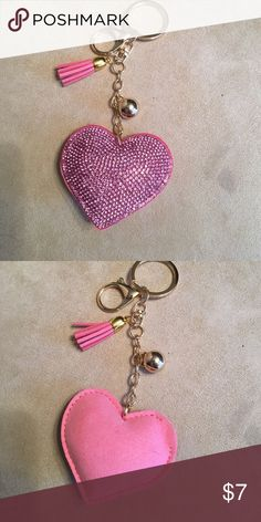 Keychain/pursecharm. Pink puffy key chain/ purse charm.  Comes brand in bag. Accessories Key & Card Holders