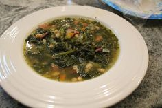 Dinner with the Grobmyers: Turnip Green Soup aka Swamp Soup Turnip Green Soup, Turnip Greens, Swamp Soup Recipe, Creamy Honey Mustard Chicken, White Soup, Low Sodium Chicken Broth, White Beans, Soup And Salad, Soups And Stews