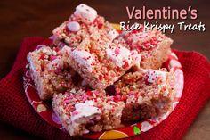 Valentine's Day Rice Krispy Treats - @Barbara Schieving {Barbara Bakes}