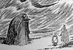 Moomin - by Tove Jansson Tove Jansson, Treasure Maps, Art And Illustration, Gravure, Cute Art, Alice In Wonderland, Fantasy Art, Scary, Fairy Tales