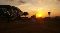 Fim de tarde na comunidade Espírito Santo, zona rural de Campo Alegre do Fidalgo.