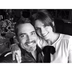Stana Katic with Victor Webster who played Beckett's boyfriend Josh on Castle.