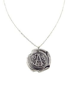 "Wax Seal Initial ""A"" Pendant Necklace by Alisa Michelle on @HauteLook"
