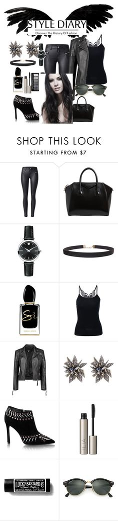 """""""Untitled #2720"""" by princhelle-mack ❤ liked on Polyvore featuring Givenchy, Movado, Humble Chic, Giorgio Armani, Boohoo, Alexis Bittar, Ilia and Ray-Ban"""