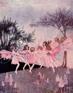 There were seven of them altogether, from Baby Cowslip to Great-Girl Hyacinth; The Land of Heart's Delight - The Little Fairy Sister, 1923