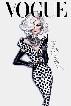 CELEBRITIES ☆ Supermodel Carmen Dell'Orefice - Illustration by Hayden Williams