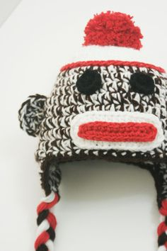 1e790ed6fc9 Sock Monkey Hats for the Whole Family (pdf knitting pattern)