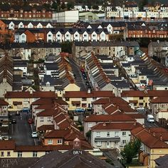 Bogside district of Derry in Northern Ireland - view from city walls. Photo by Dmitri Korobtsov.