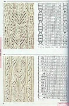 "Photo from album ""knitting patterns on Yandex. Lace Knitting Stitches, Cable Knitting, Knitting Charts, Knitting Designs, Knitting Patterns Free, Hand Knitting, Free Pattern, Lace Patterns, Stitch Patterns"