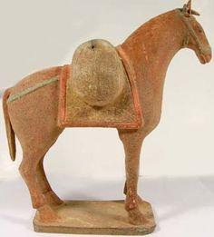 Ancient Medieval Ceramic Votive Horse Spirit Goods 900AD In the Style of Ancient China Tang Dynasty 9-10th Century AD Ancient Chinese Statuette #45296