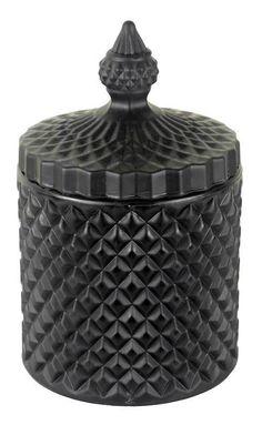 Glass Trinket Box Matte Black - PRINTIC Australia