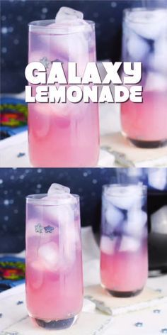 """""""Magic"""" Farbwechsel Galaxy Limonade – Samantha Fashion Life """"Magic"""" Color Changing Galaxy Lemonade- Watch the magic of how this lemondde changes color when you mix them! Children will love it! Kid Drinks, Non Alcoholic Drinks, Cocktail Drinks, Sparkling Drinks, Easy Cocktails, Disney Cocktails, Dessert Drinks, Beverages, Blue Drinks"""