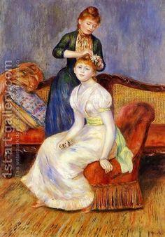 The Coiffure by Pierre Auguste Renoir